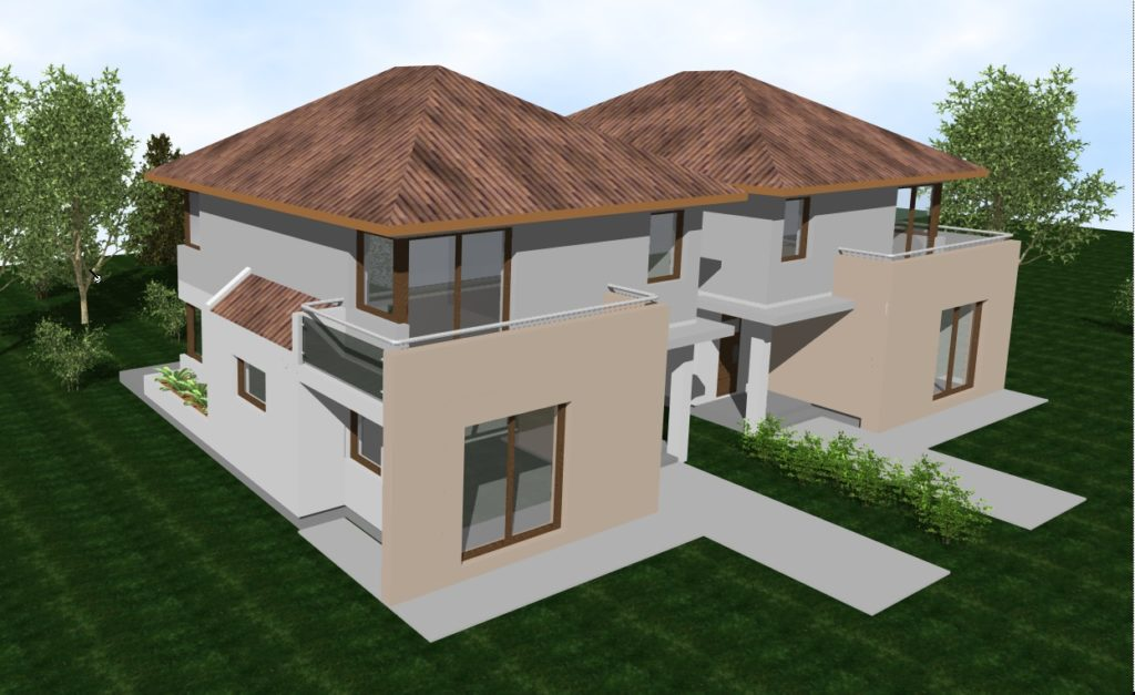 családi házak tervezése és kivitelezése - korrekt építő - ikerház veresegyház